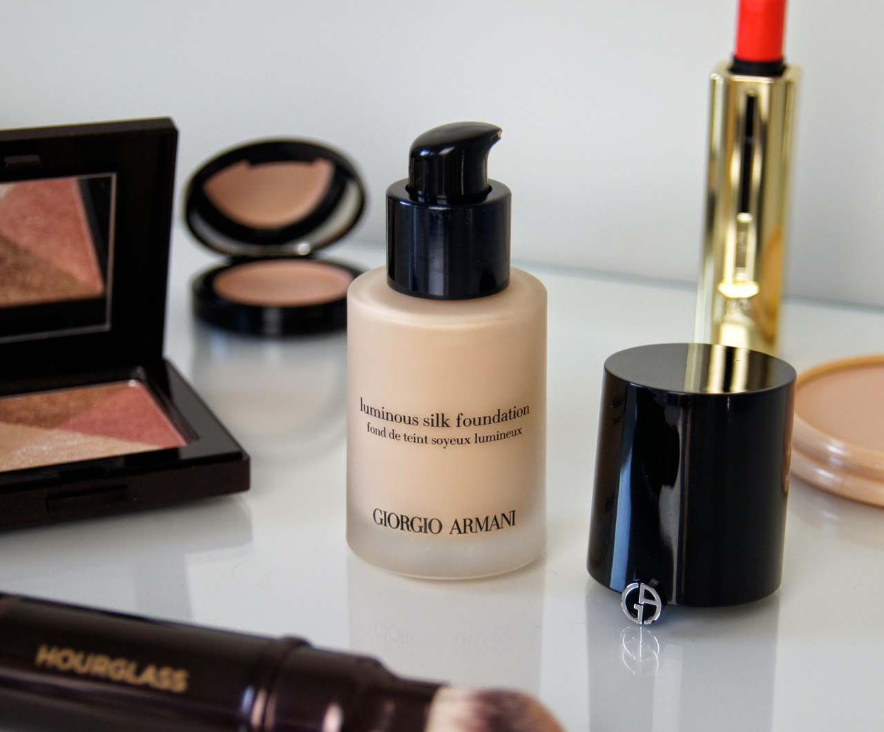 giorgio armani luminous silk foundation review swatch shade 3.5