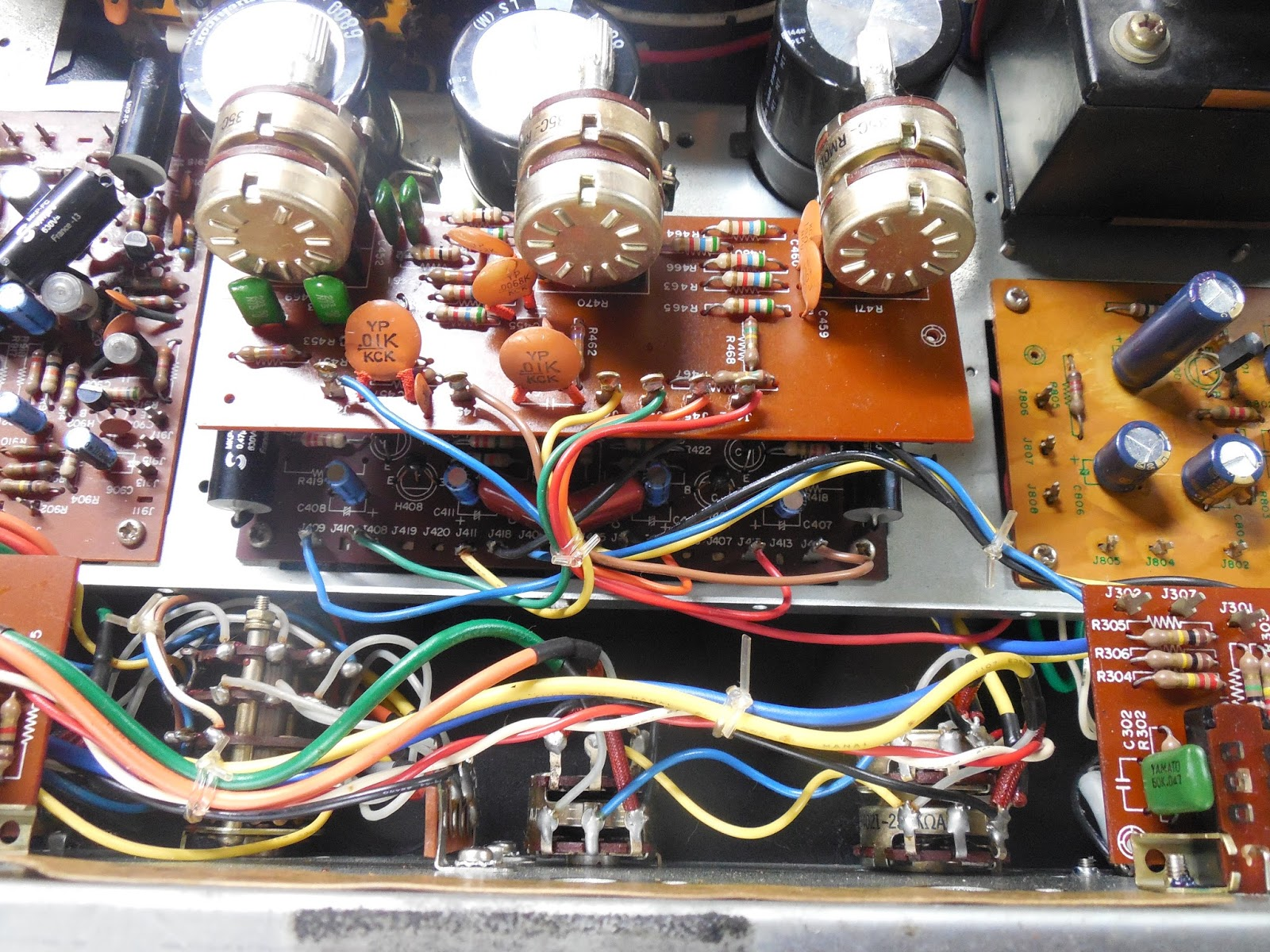 Vintage Hi Fi Audio Restorations June 2016 Tone Control Circuit Passive In Front Of This Assembly Is The Tied Network Which I Advise Pulling Now To Properly Clean And Volume Balance Selector Potentiometers