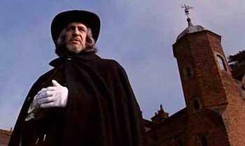 Vincent Price en una secuencia de la película Cuando las brujas arden