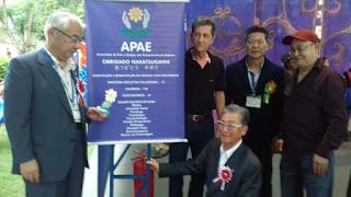 Comitiva de Nakatsugawa/Japão visita APAE de Registro-SP