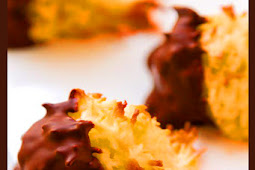 Chewy Chocolate Dipped Coconut Macaroons