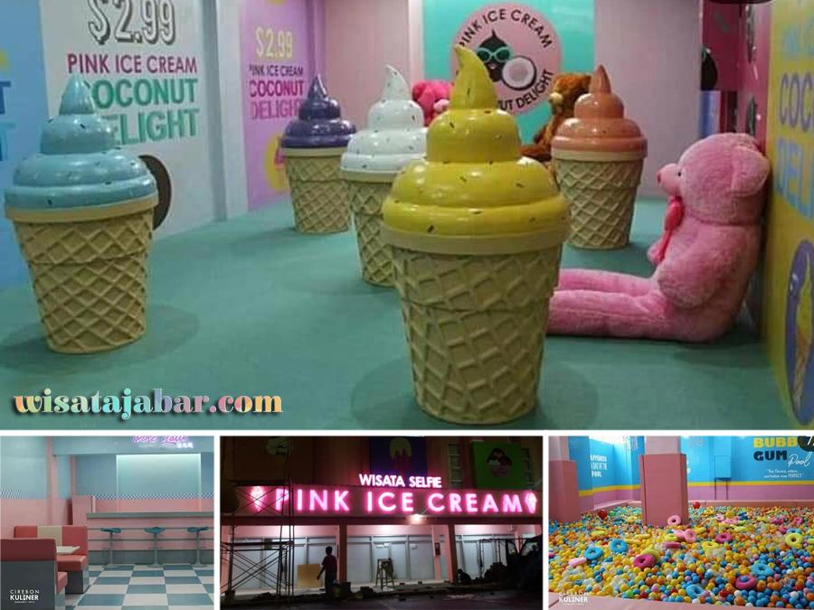 Pink Ice Cream Wisata Selfie Kekinian Di Cirebon
