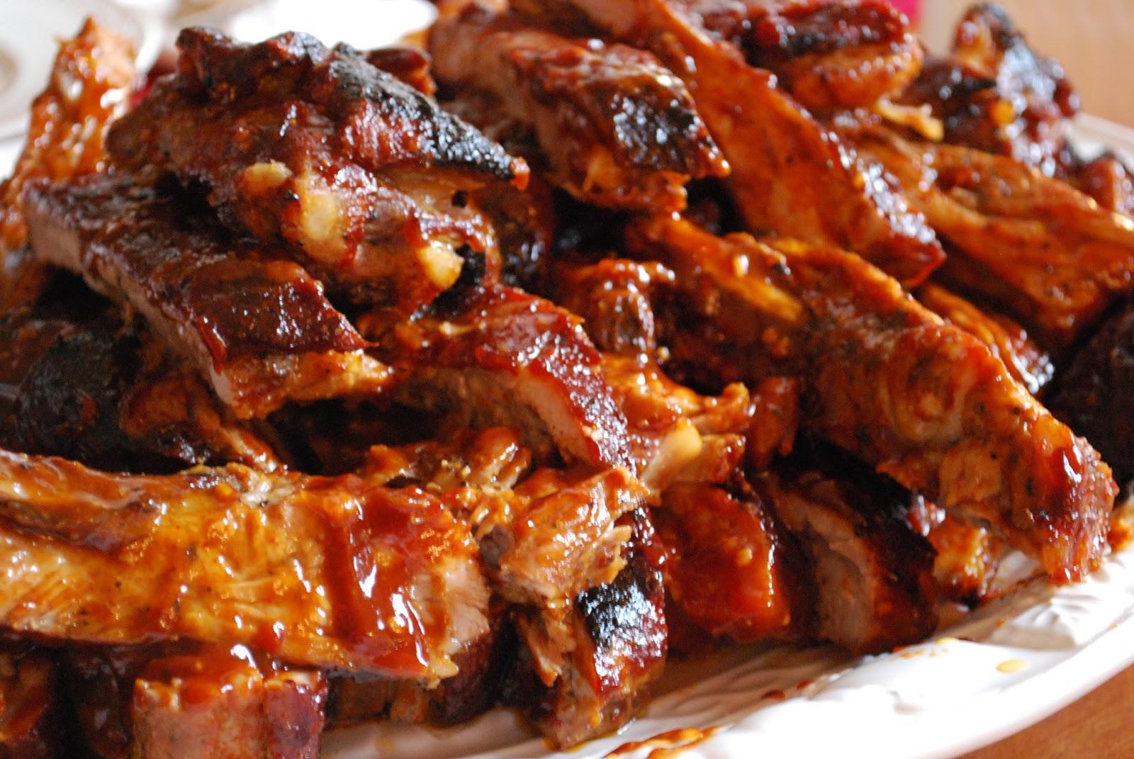 street food cuisine du monde recette de ribs c tes de porc pic s marin s au rhum et sauce. Black Bedroom Furniture Sets. Home Design Ideas
