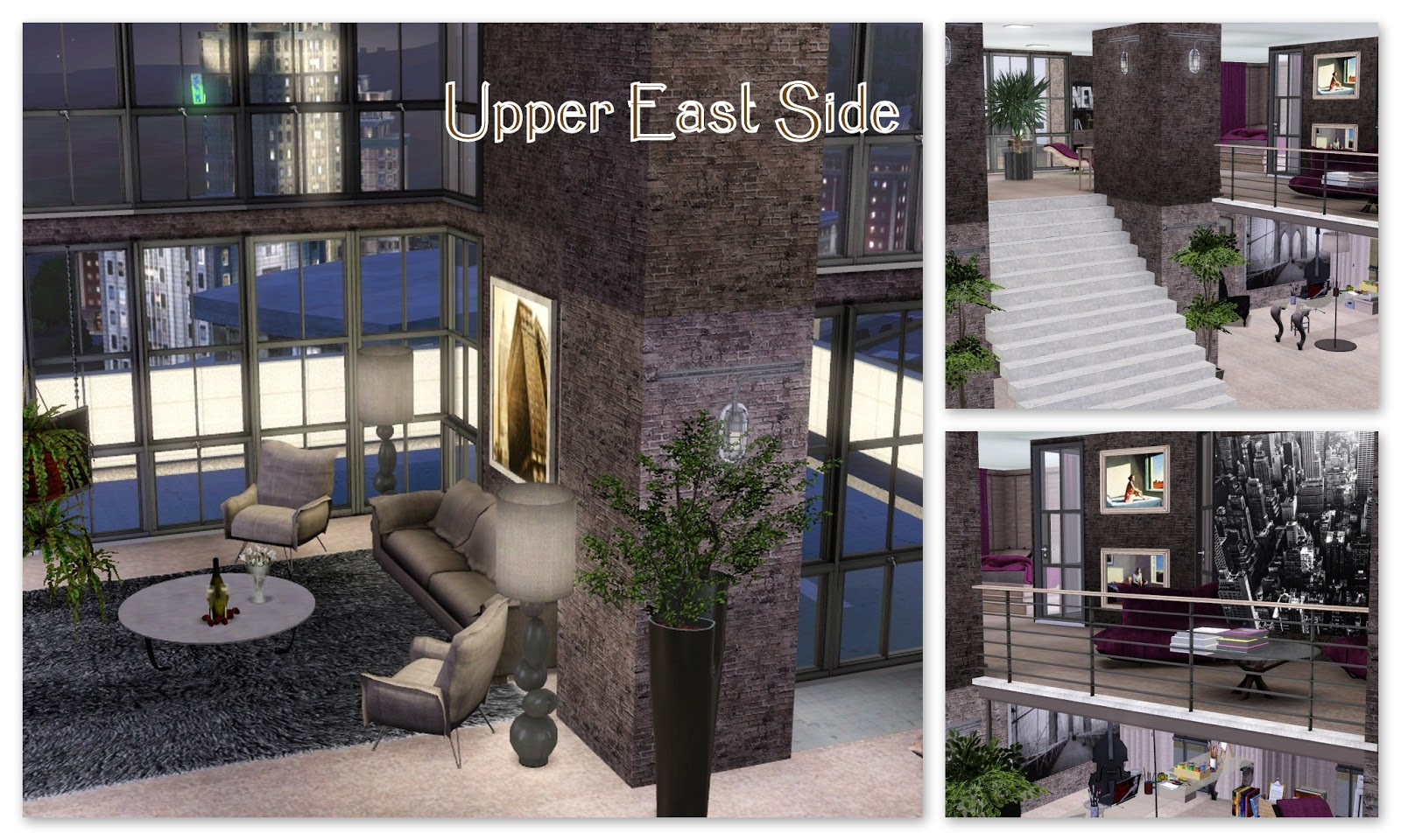 sims3 home sweet home sims3 upper east side for my friend leandro. Black Bedroom Furniture Sets. Home Design Ideas