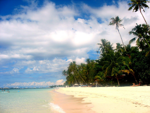 White Sand of Alona Beach In Panglao Bohol