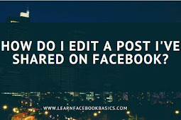 How do I edit a post I've shared on Facebook Platform?