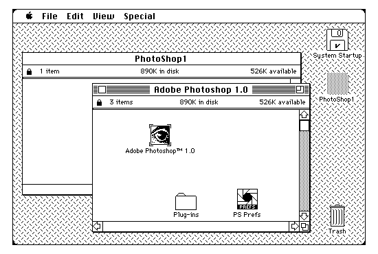 First Versions: Adobe Photoshop