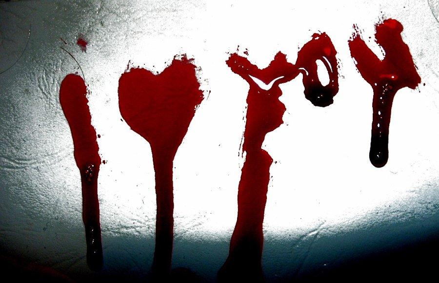 Картинки с надписью из крови