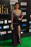 Hansika Motwani in Glittering Deep Neck Transparent Leg Split Purple Gown at IIFA Utsavam Awards 13.JPG