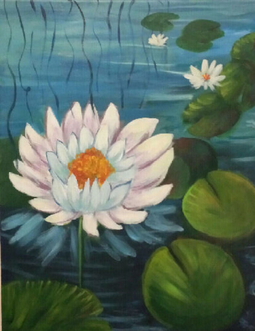For The Love Of Art January 27 2018 Lotus Flower Painting At