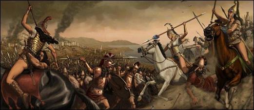 amazonas, escitias, guerreras, pecho, amputado, arco, Nart, saga, Caúcaso, Balcanes