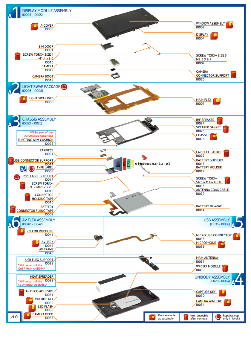 smartphone parts diagram image components inside the nokia lumia 928 | smartphones blog #7
