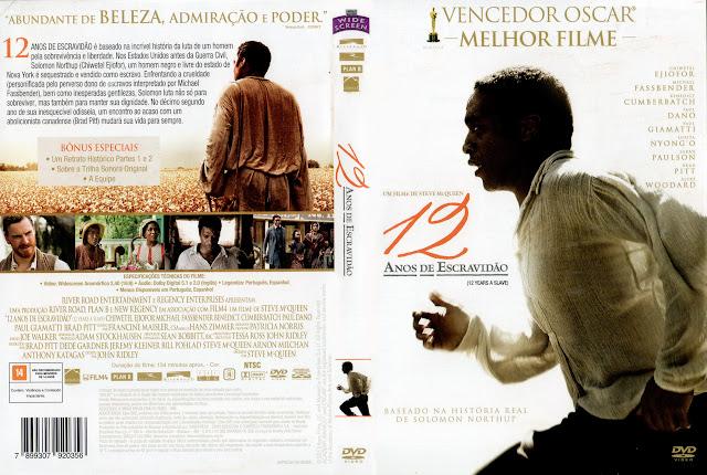Capa DVD 12 ANOS DE ESCRAVIDÃO