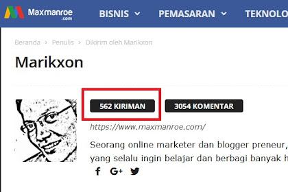 Marikxon Manurung Hanya Menulis 12% Dari Konten Maxmanroe(dot)com