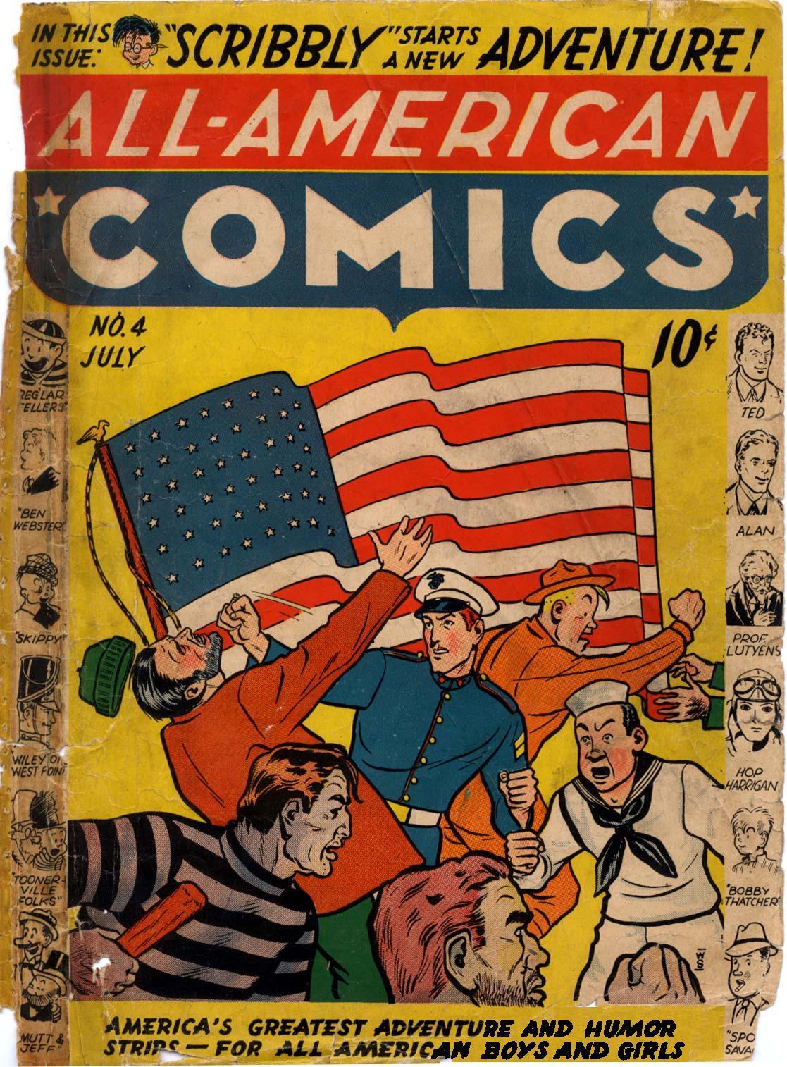 Read online All-American Comics (1939) comic -  Issue #4 - 1