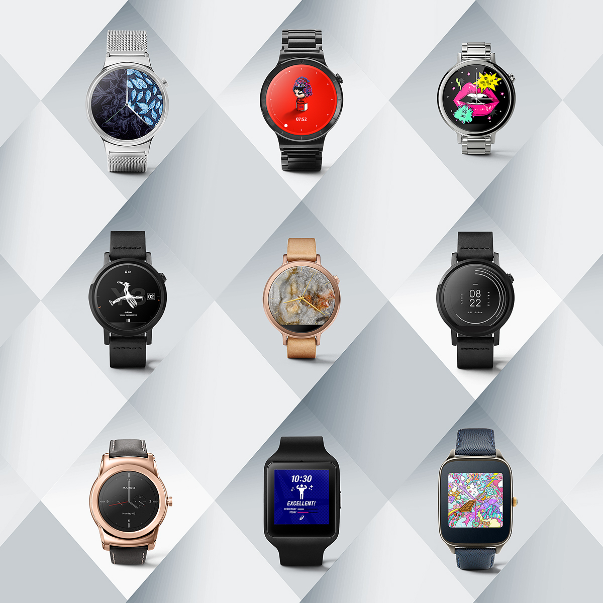 Designer android wear watchface - Android Wear Dress Things Up With New Designer Watch Faces