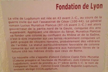 La fondation de Lyon