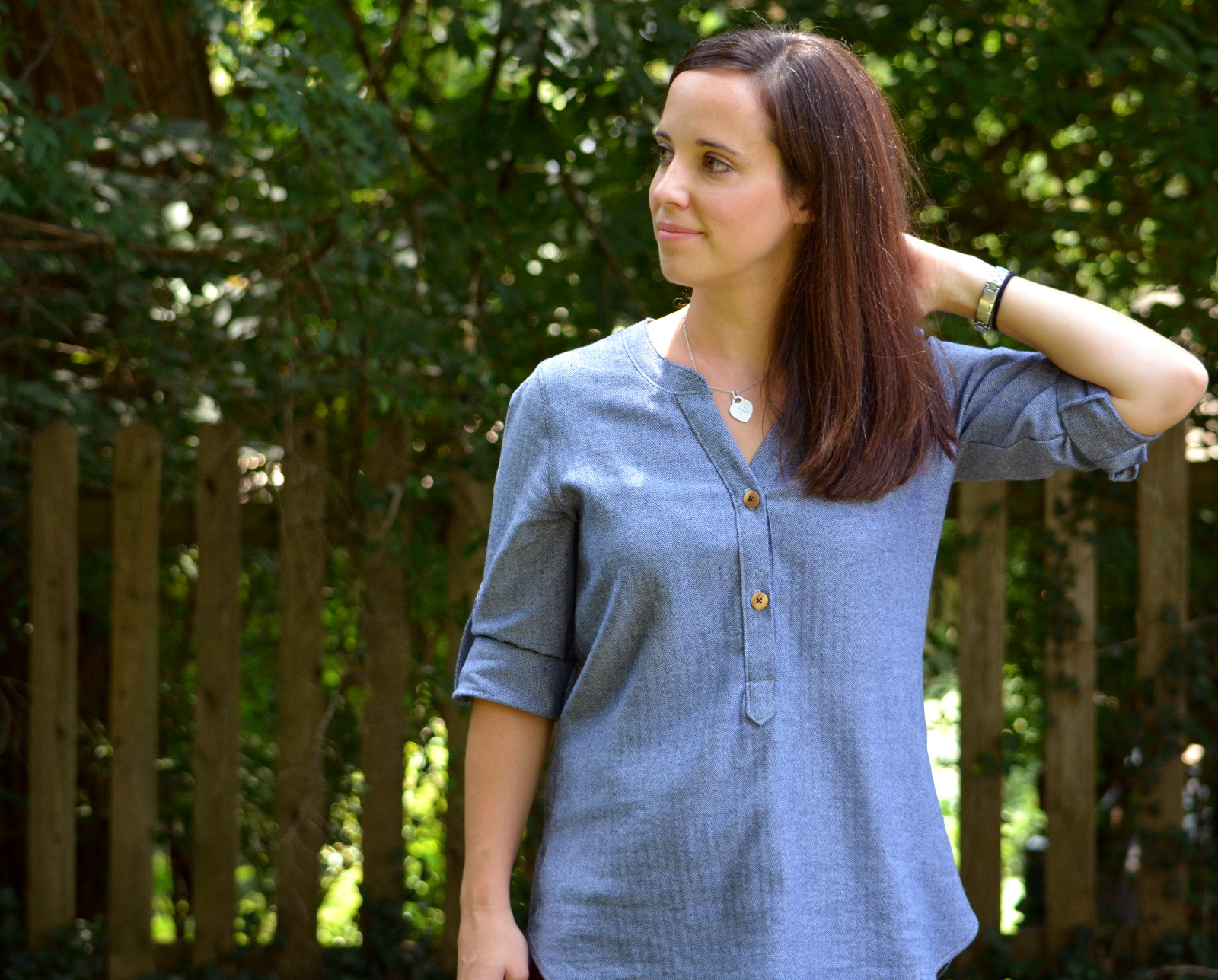 cozy birdhouse | chambray cheyenne tunic