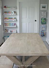 A Minimalist Montessori Home Tour: The Dining Room-Art Supply Storage