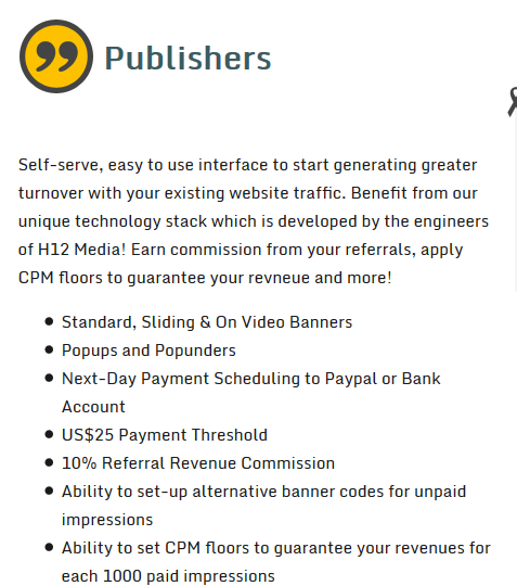 h12 media review publishers