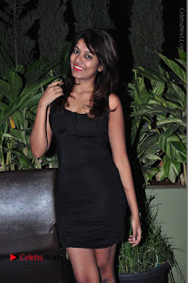 Actress Kavya Kumar Stills in Black Short Dress at F Club pre soft Launch  0030.JPG