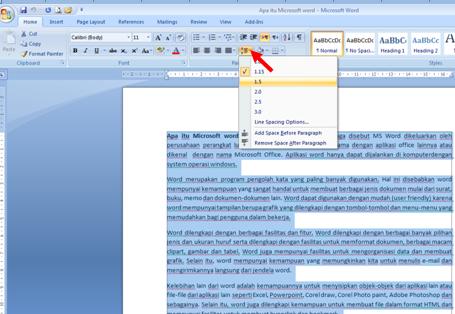 Cara Mengatur Spasi dalam Microsoft Word