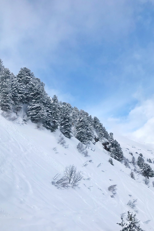 Perfect blue skies in Meribel, France - travel & lifestyle blog