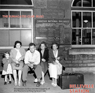 Late night passengers, Belleville Train Station, July 26, 1950