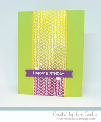 Geometric Grid Birthday card-designed by Lori Tecler/Inking Aloud-stamps and dies from My Favorite Things