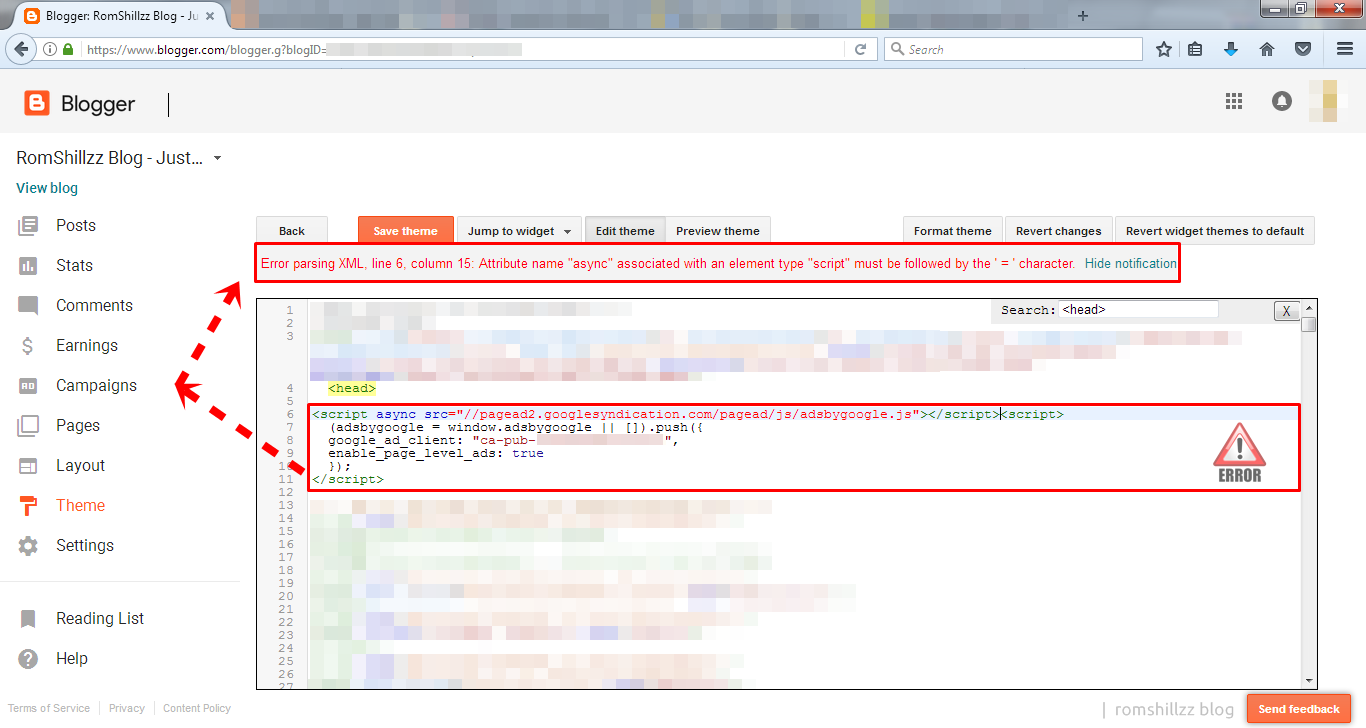 How To Resolve Async XML Parsing Error When Saving Google