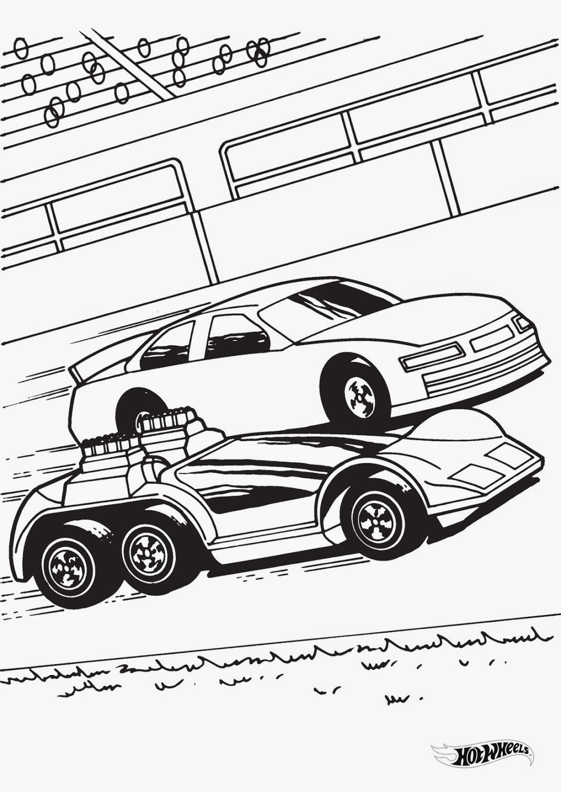 Hot wheels racing league hot wheels coloring pages set 4 for Wheel coloring page