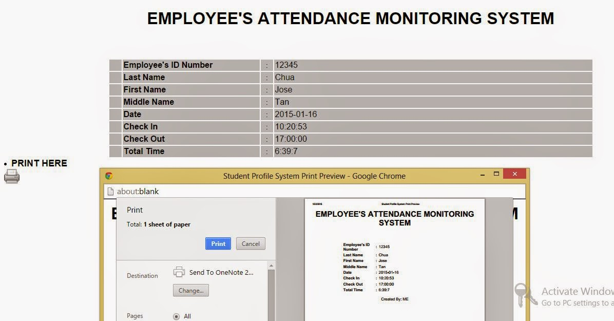 Free Programming Source Codes To All Employee\u0027s Attendance - sample attendance tracking