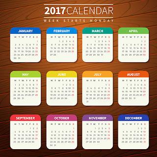 2017カレンダー無料テンプレート169