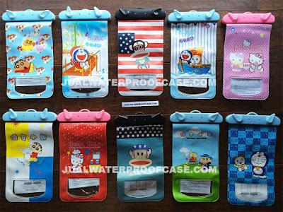 jual waterproof case gambar kartun