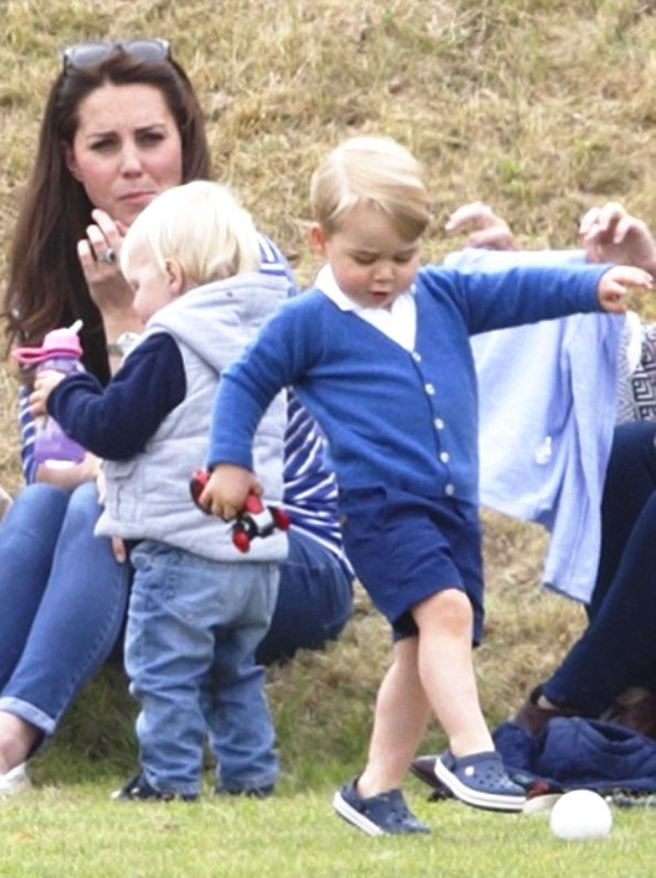 The Duchess Of Cambridge And Prince George At The Polo Match