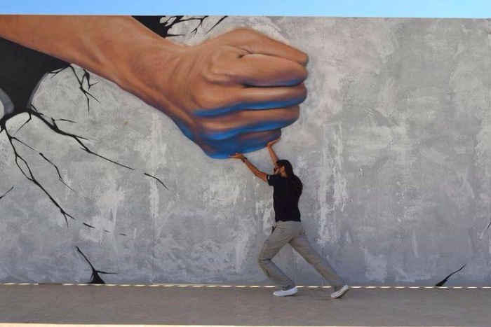 Стрит арт художники. Senzo and Abid (стрит арт)