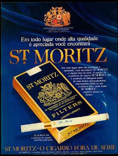 cigarros St. Moritz, Brazilian advertising cigarettes,  propaganda anos 70; história decada de 70; reclame anos 70; propaganda cigarros anos 70; Brazil in the 70s; Oswaldo Hernandez;
