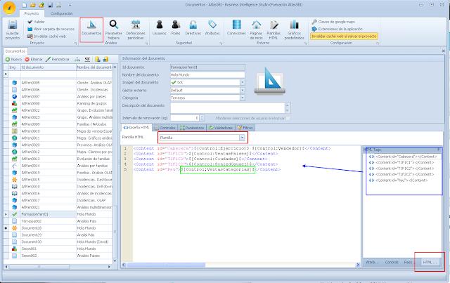 Utilización de plantillas en Documentos Analíticos de Atlas SBI