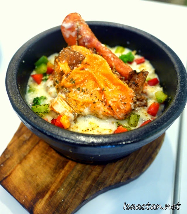 Soft Shell Crab and Chicken Ham Cheese Baked Rice