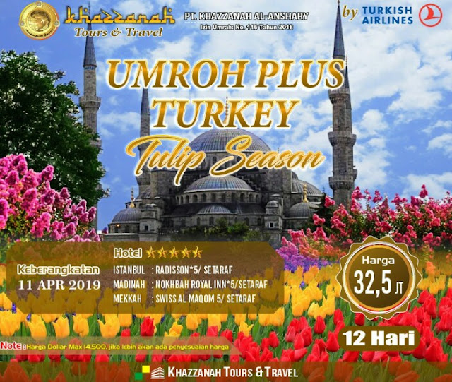 umroh plus turki april 2019