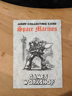 Army Collecting Card - Space Marines - 2nd Edition