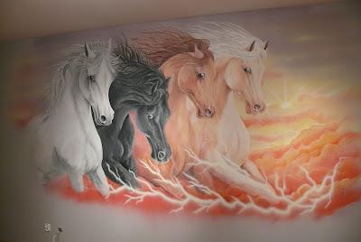 Konie w galopie, malowanie koni w galopie obraz, warszawa