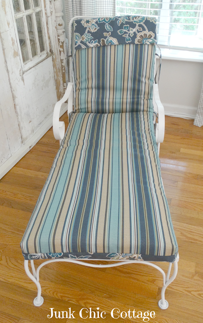 Junk Chic Cottage New Chair Pad For Vintage Chaise