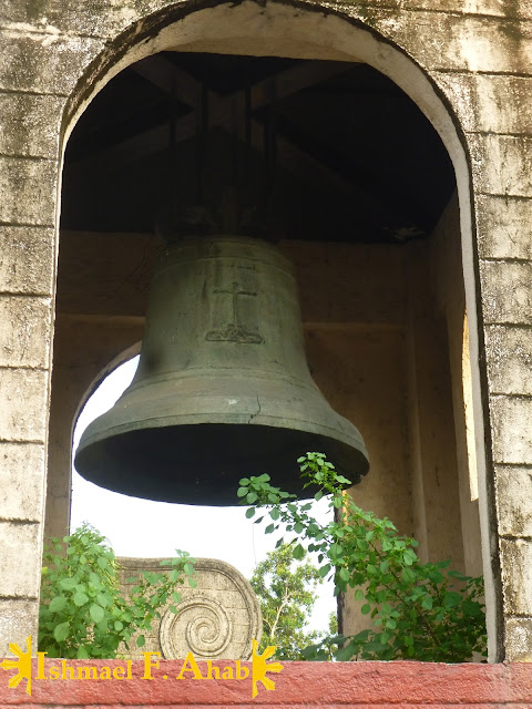 Ancient bell in Our Lady of the Most Holy Rosary, Queen of Caracol Church in Rosario, Cavite