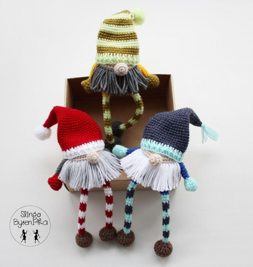 Рождественские гномы крючком
