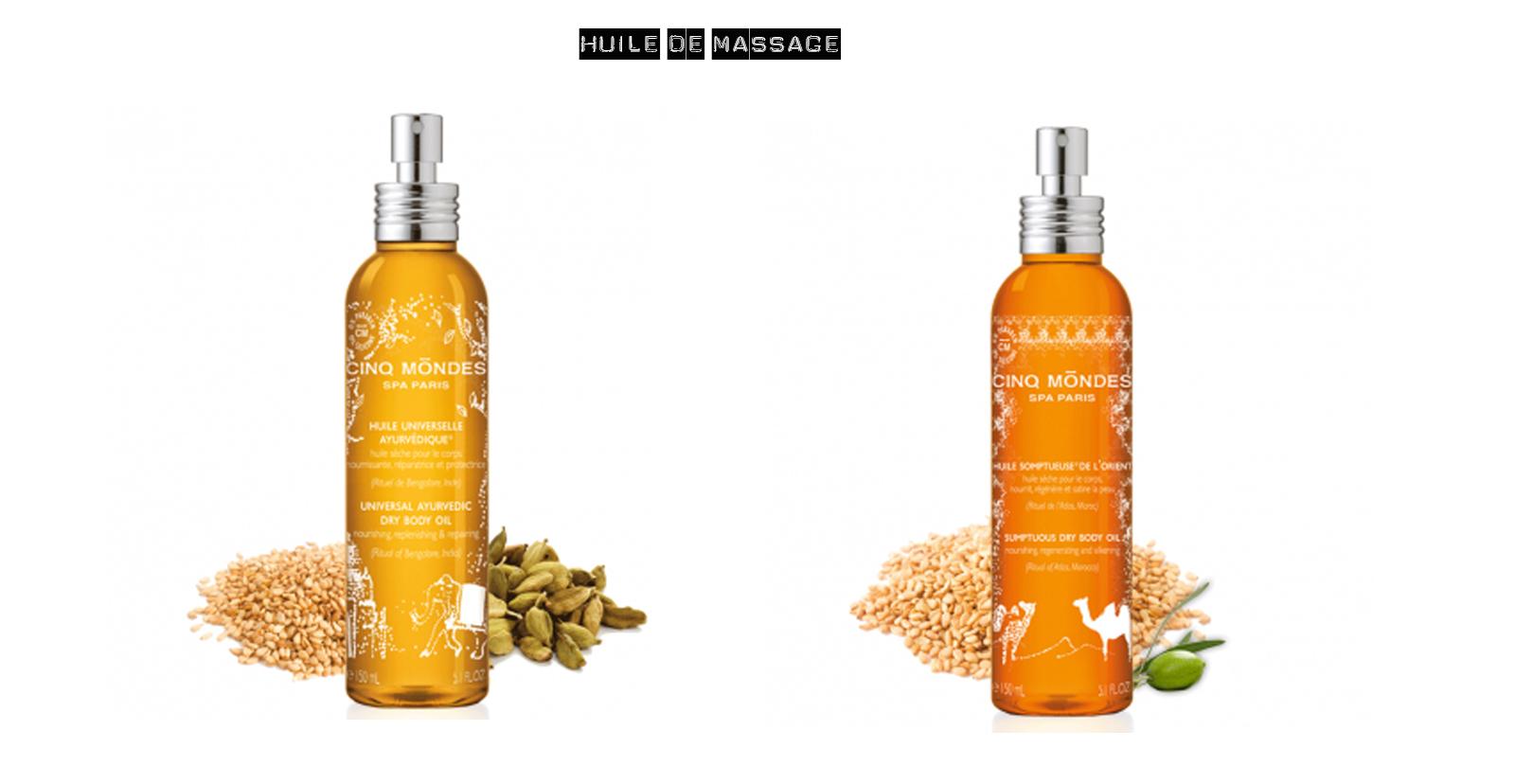 Huile de massage Cinq Mondes