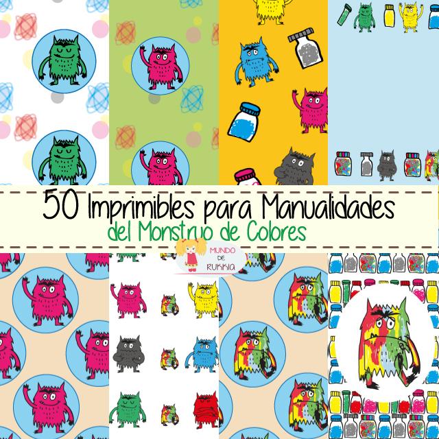 50 Imprimibles Gratuitos para Manualidades del Monstruo de Colores ...