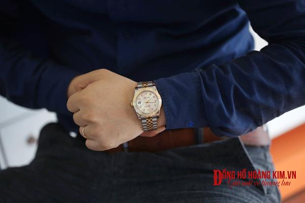 đồng hồ nam dây thép rolex thời trang
