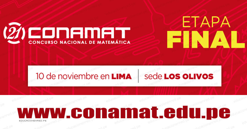 CONAMAT 2018: Resultado Final 10 Noviembre - www.conamat.edu.pe