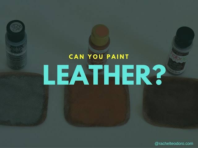leather crafts, leather, painted leather